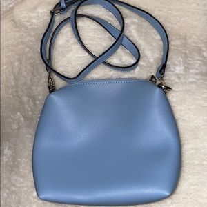 Browns baby blue leather cross body bag